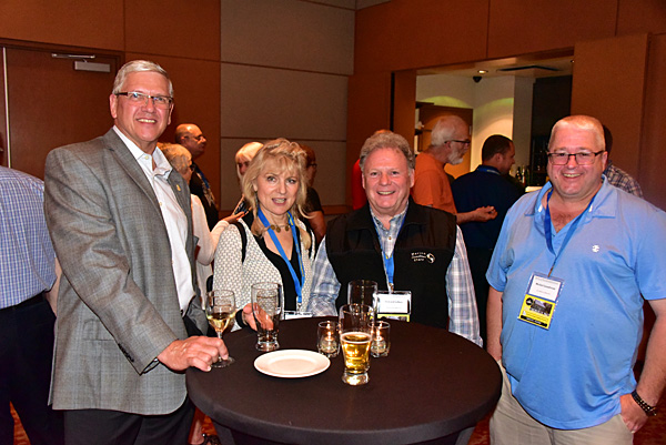 friends gather at the CAFNE reception